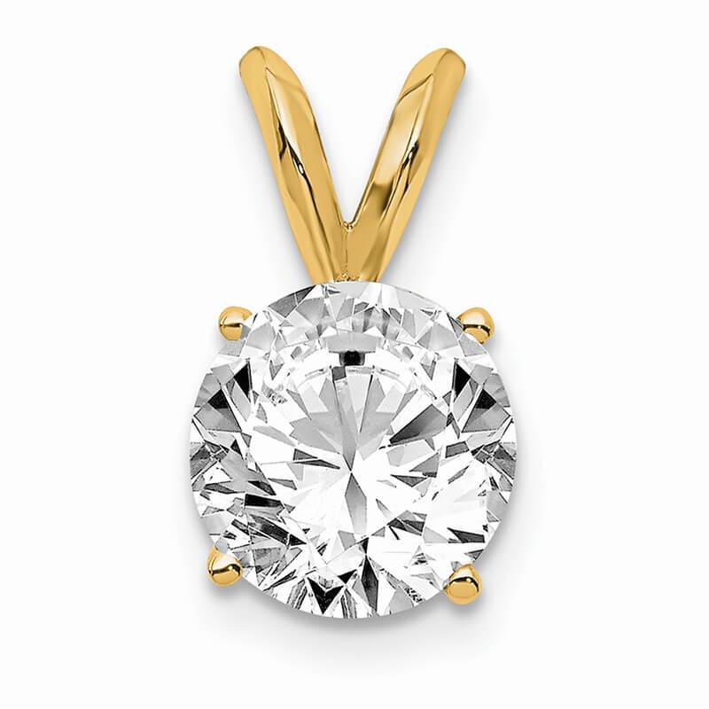 14ky 1.00ct. Certified VS/SI; D E F; Lab Grown Diamond Solitaire Pendant''