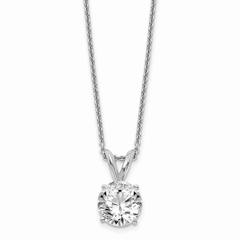 JCX1056: 14kw 1.00ct. Round Certified Lab Grown Diamond SI1/SI2; G H I; Solitaire P