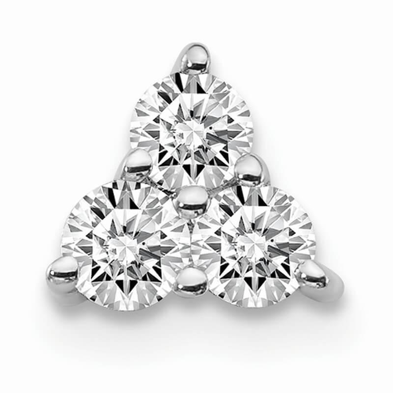 14kw Lab Grown Diamond SI1/SI2; G H I; Chain Slide Pendant