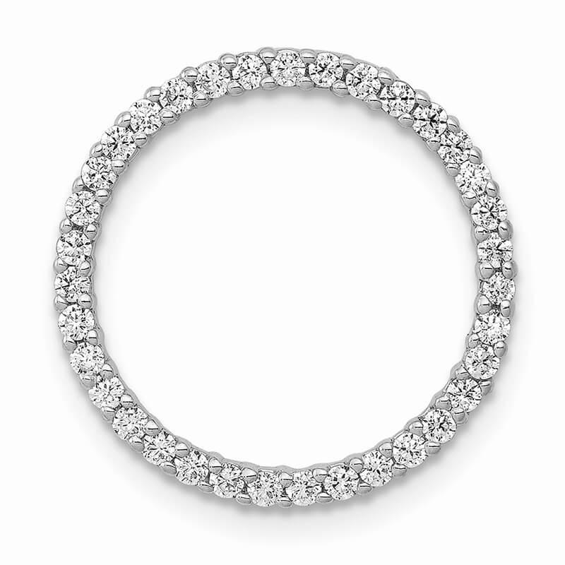 14kw Lab Grown Diamond SI1/SI2; G H I; Circle Pendant