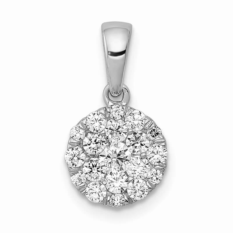 14kw Lab Grown Diamond SI1/SI2; G H I; Pendant