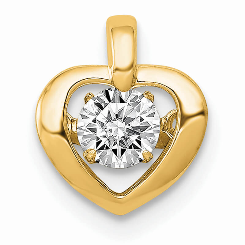 14K Lab Grown Diamond SI1/SI2; G H I; Heart Pendant