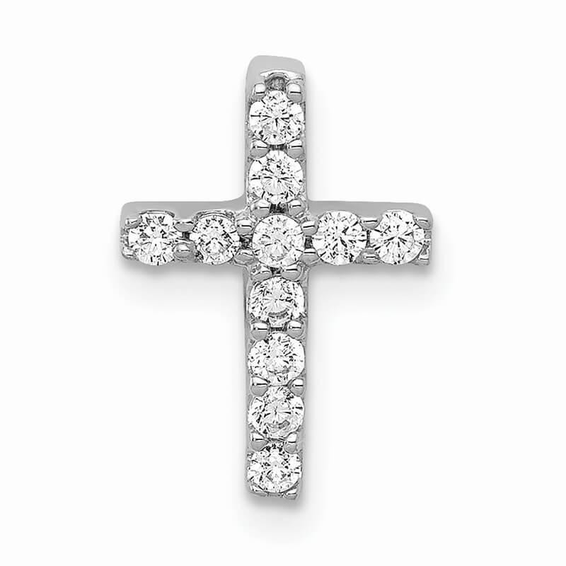 14kw Lab Grown Diamond SI1/SI2; G H I; Cross Pendant