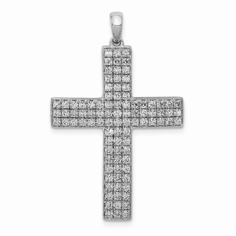 14kw Lab Grown Diamond SI1/SI2; G H I; Latin Cross Pendant
