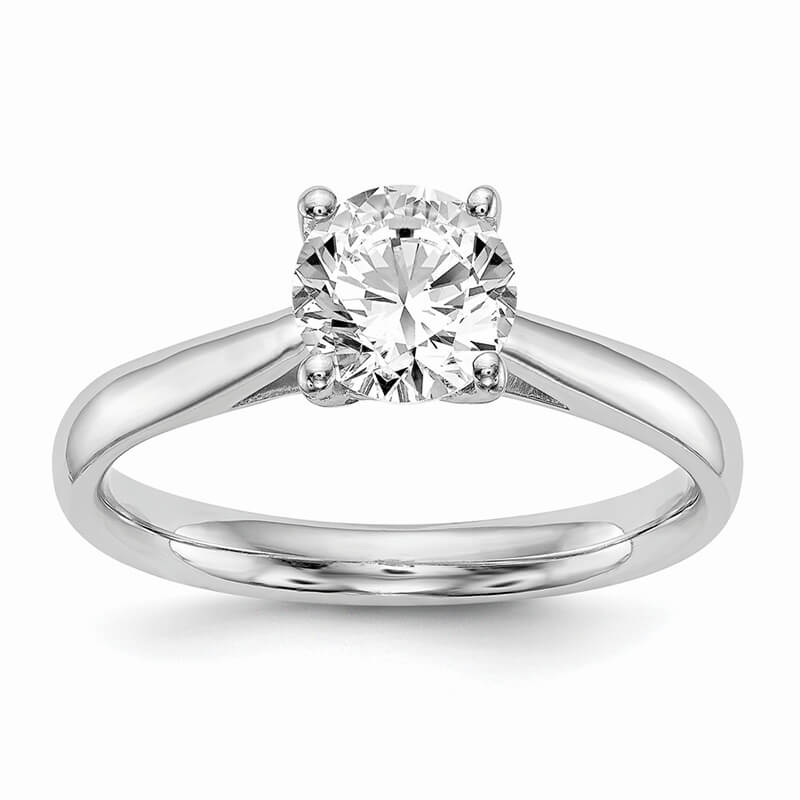 JCX553: 14k White Gold Solitaire Engagement Ring Mounting