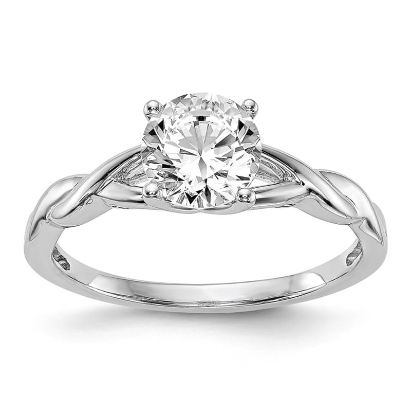 JCX6: 14k White Gold Solitaire Engagement Ring Mounting
