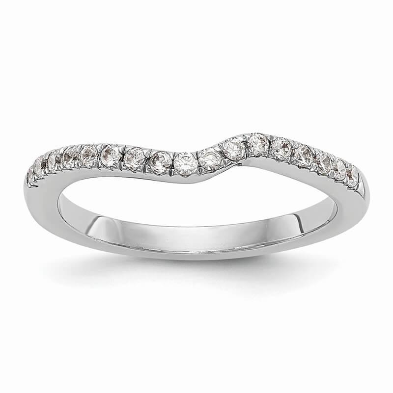 14kw Diamond Contoured Wedding Band