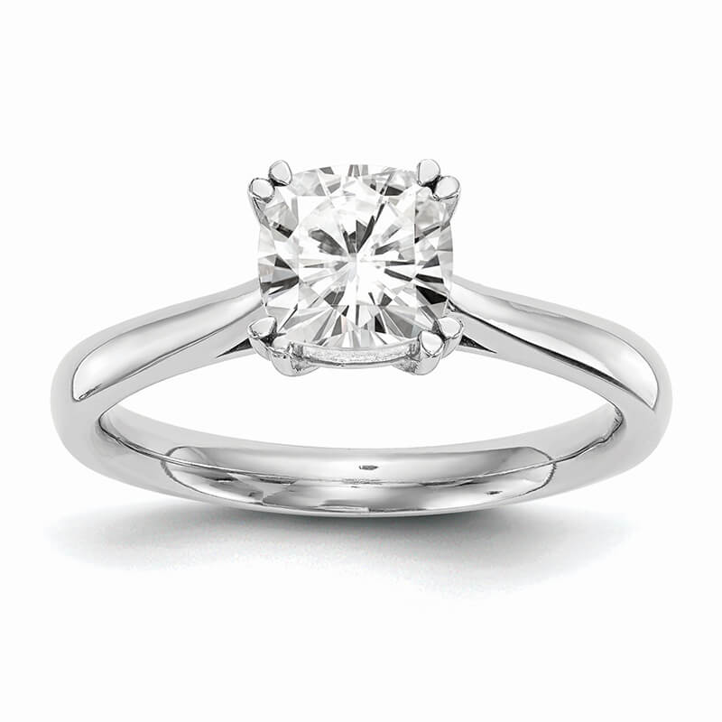 JCX574: 14k White Gold Square Solitaire Engagement Ring Mounting