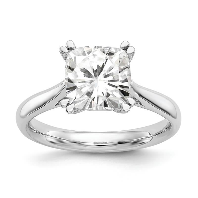 JCX962: Platinum Square Solitaire Engagement Ring Mounting