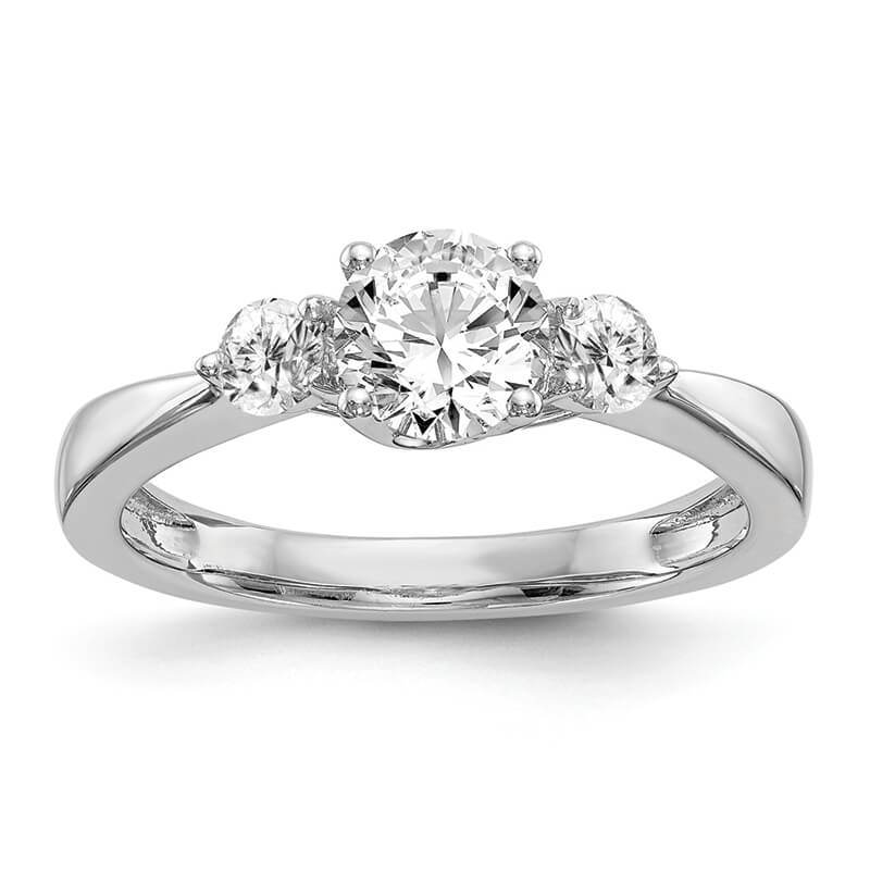 JCX16: 14K White Gold 3-Stone Engagement Mounting