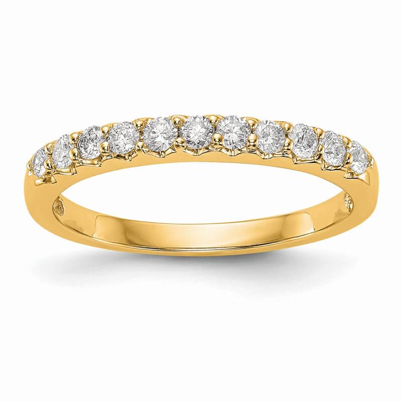 14ky Lab Grown Diamond SI1/SI2; G H I; Band