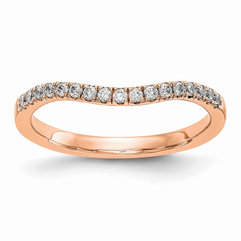 14K Rose Gold Lab Grown Diamond SI1/SI2; G H I; Band