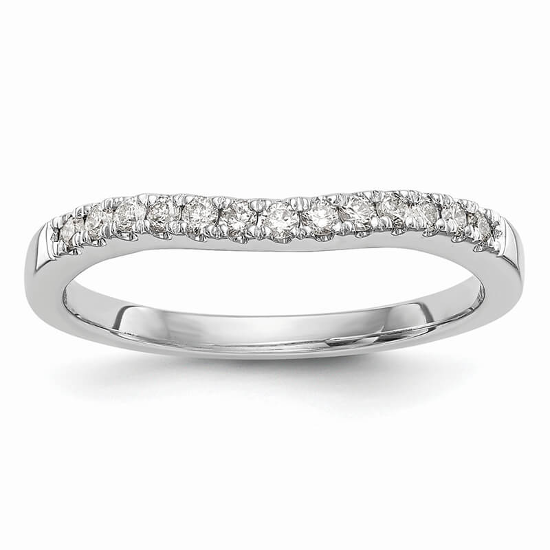 JCX1099: 14K Set of Two White Gold Lab Grown Diamond SI1/SI2; G H I; Bands