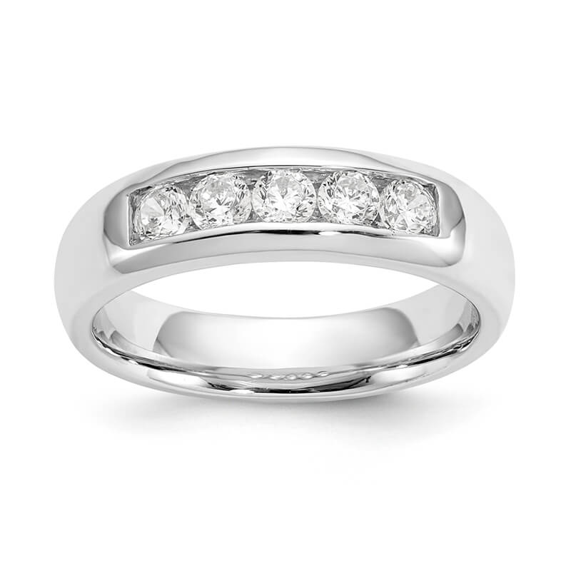 14kw 5-Stone Lab Grown Diamond SI1/SI2; G H I; Channel Band