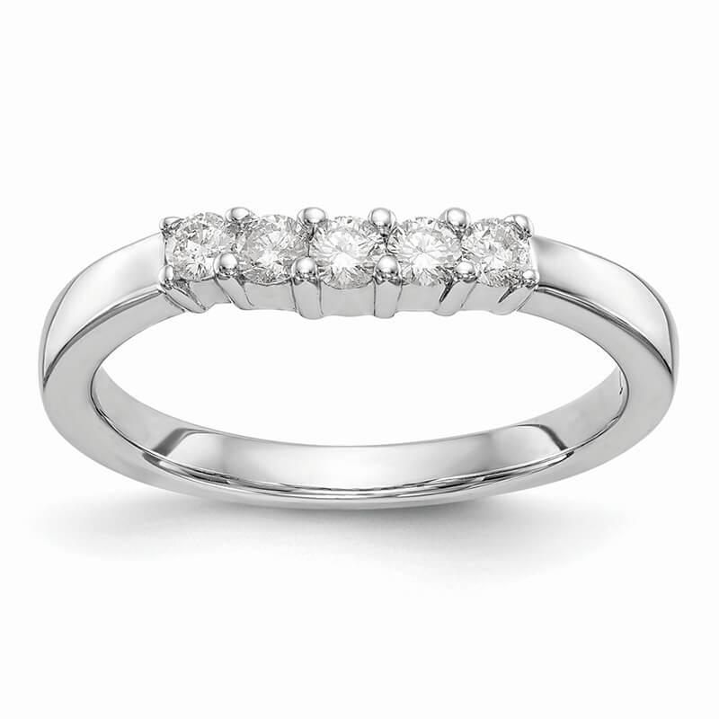 14kw 5-Stone Lab Grown Diamond SI1/SI2; G H I; Band