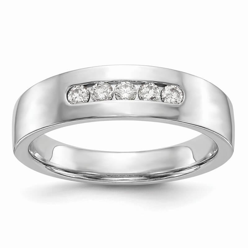 JCX1438: 14kw 5-Stone Lab Grown Diamond SI1/SI2; G H I; Men's Channel Band