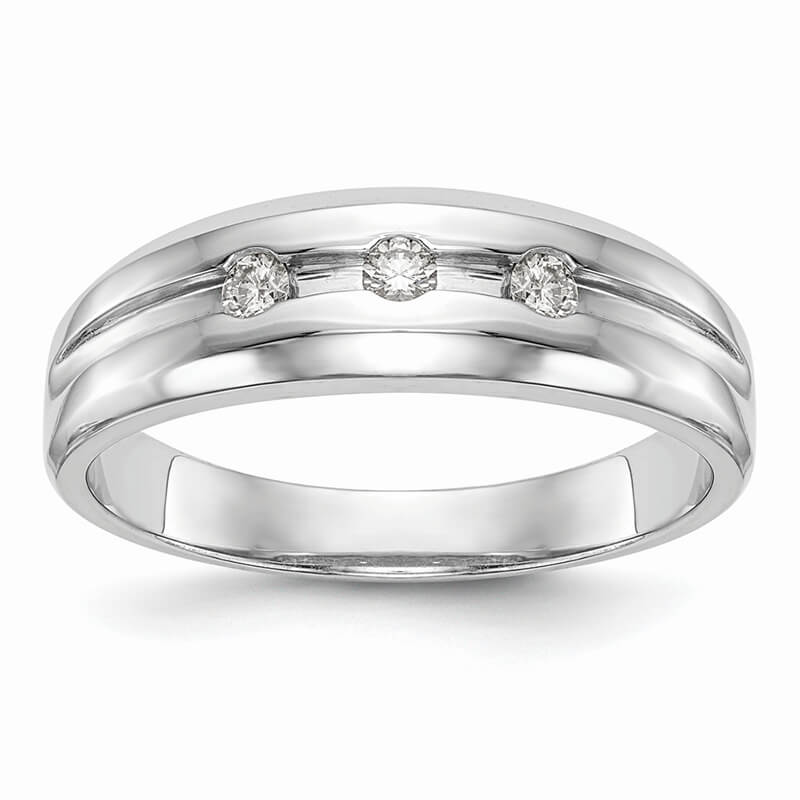 14kw Lab Grown Diamond SI1/SI2; G H I; Men's Band