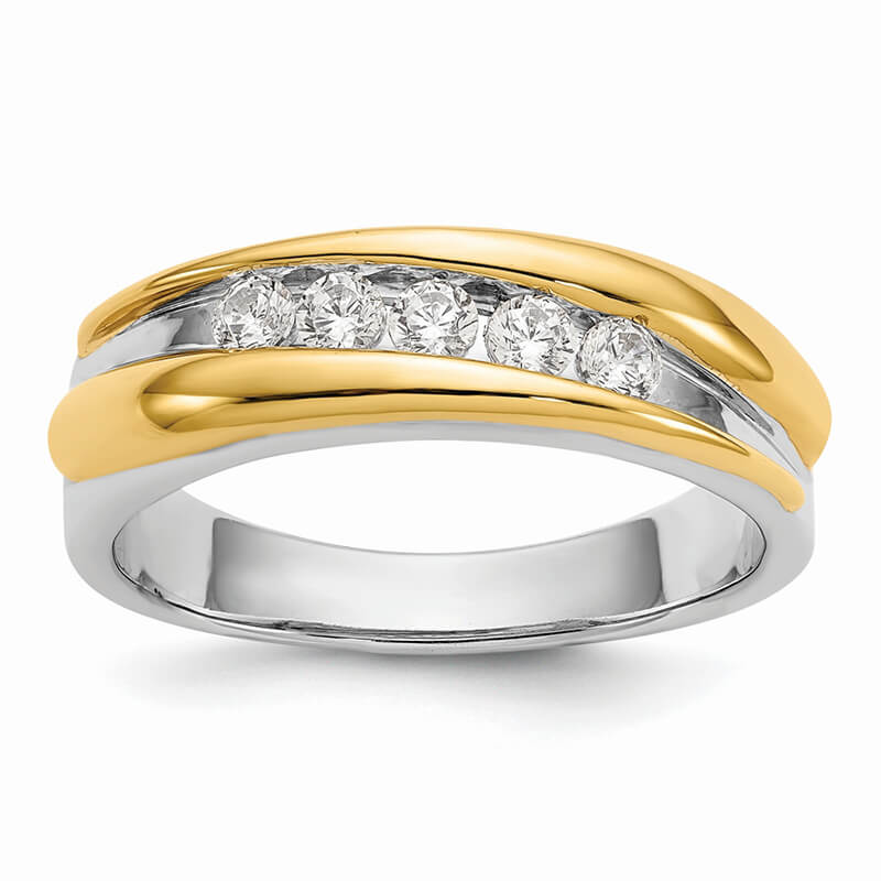 JCX1784: 14ktt Lab Grown Diamond SI1/SI2; G H I; Men's Band