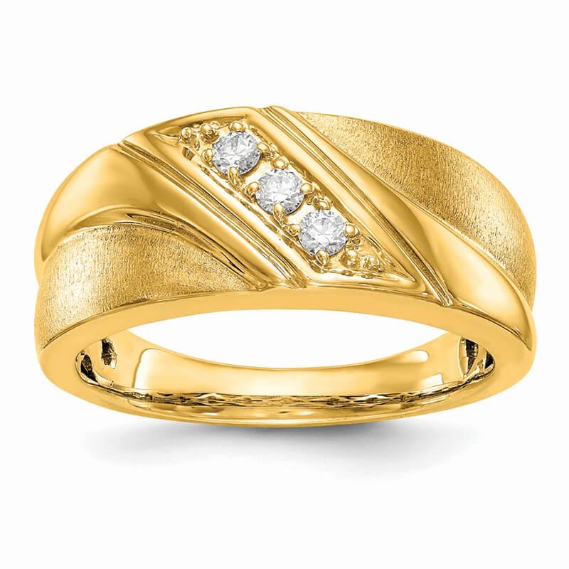 14ky Lab Grown Diamond SI1/SI2; G H I; Men's Band