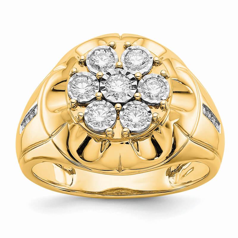 14ky Lab Grown Diamond SI1/SI2; G H I; Men's Ring