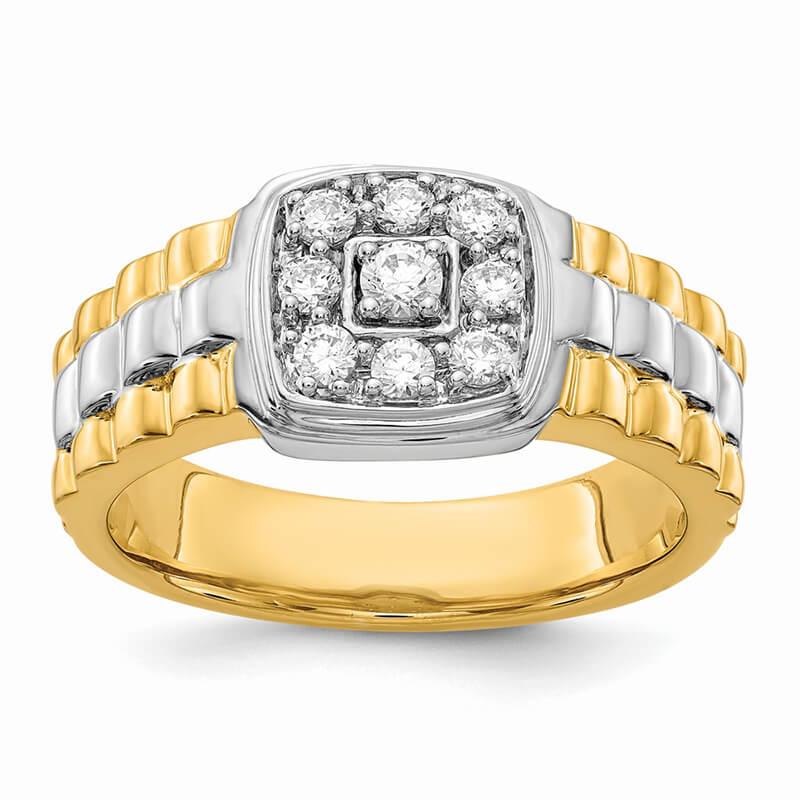 JCX1683: 14ktt Lab Grown Diamond SI1/SI2; G H I; Men's Ring