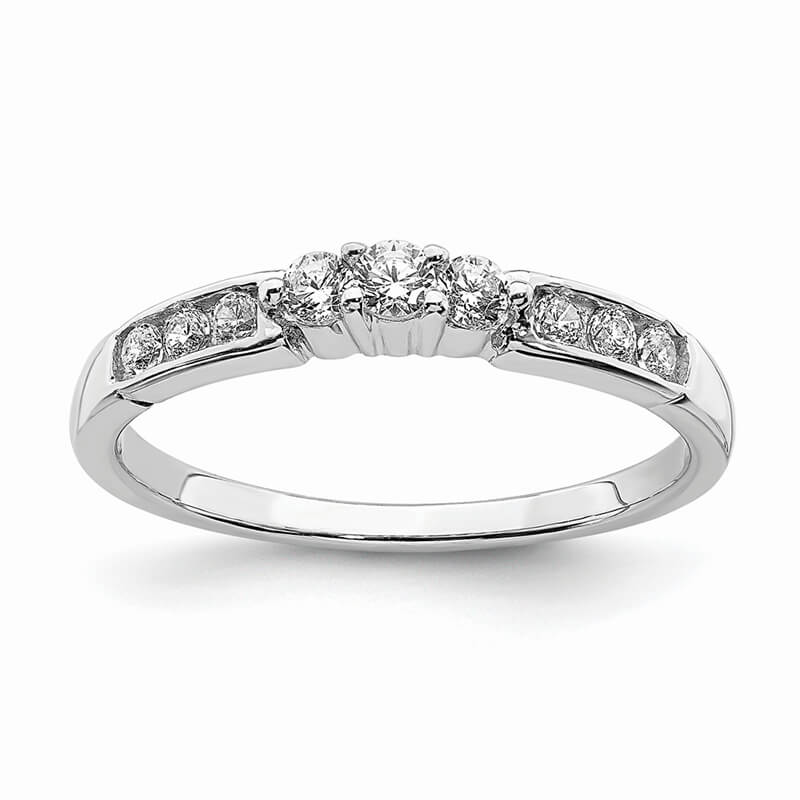 JCX724: 14k White Gold Diamond Band