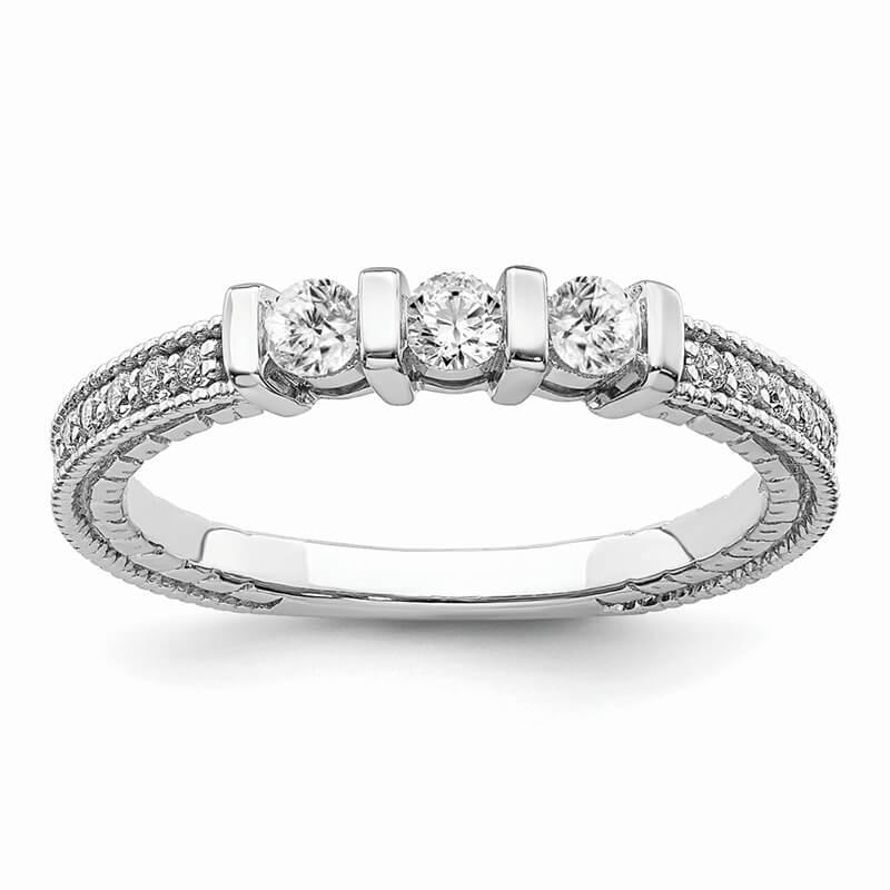 JCX718: 14k White Gold Diamond Band