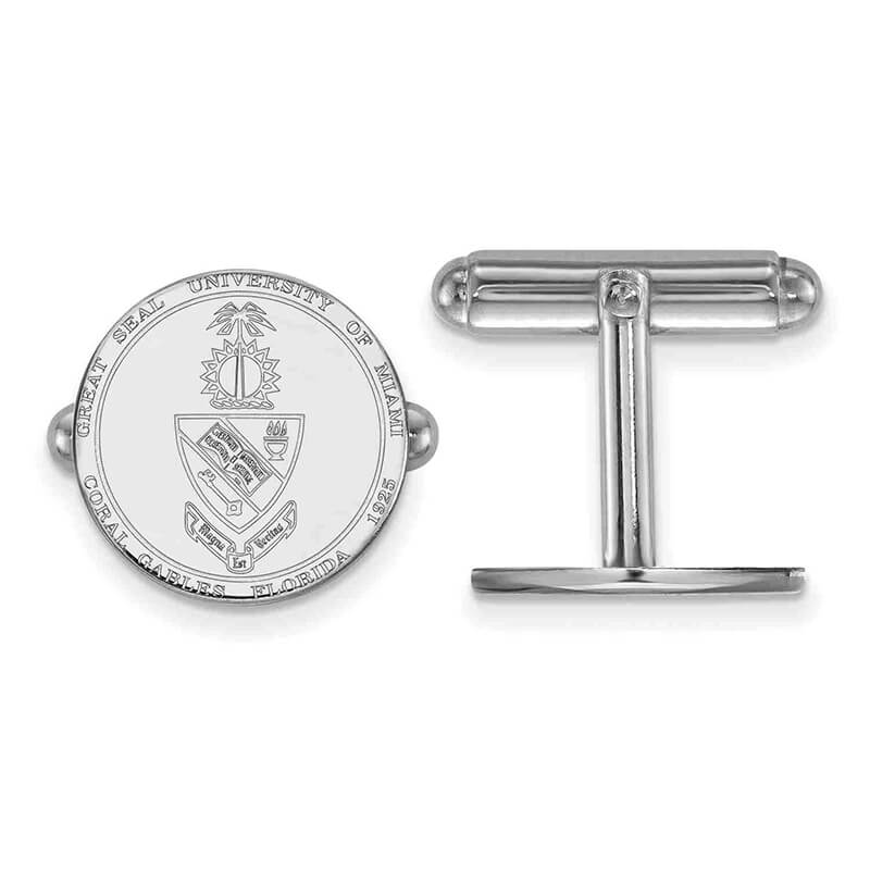 SS University of Miami Crest Cuff Link
