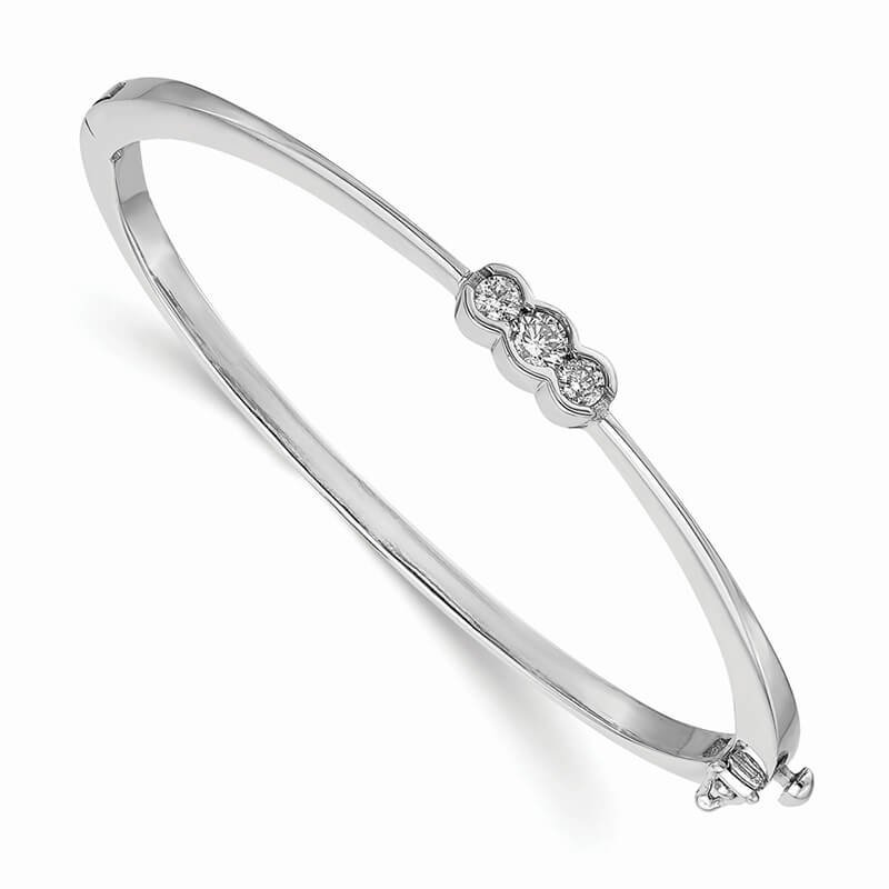 14kw Lab Grown Diamond SI1/SI2; G H I; Bangle Bracelet
