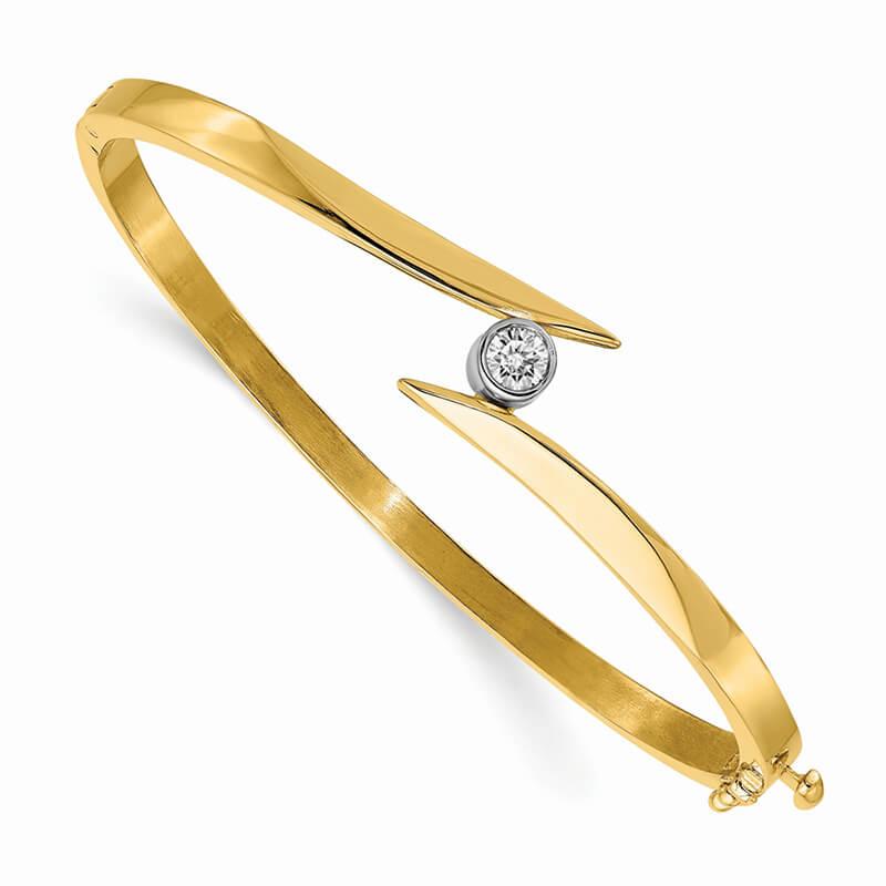 14ktt Lab Grown Diamond SI1/SI2; G H I; Bangle Bracelet