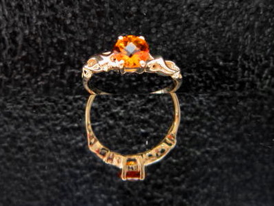 JCSJCS1299: A brilliant, checkerboard cut genuine Citrine has been mounted in this 10KT yellow gold ring. SOLD