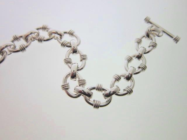 JCSJCS1500: This sterling silver bracelet is assembled from solid links and all the links are soldered.  This bracelet will last for years and years.  SOLD OUT