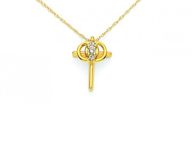 JCSJCS1012 14kt yellow gold Christian Marriage Symbol
