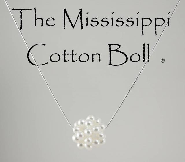 JCSJCS990: Get the AUTHENIC Trademarked Mississippi Cotton Boll! Freshwater pearls on a 24